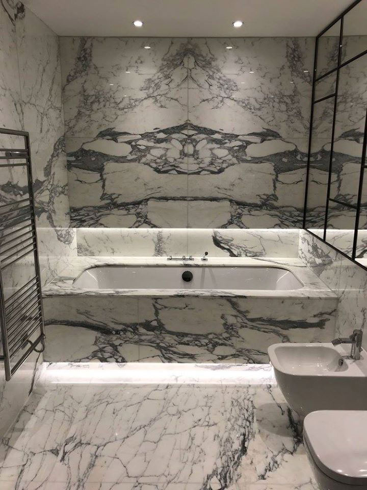 Marbonyx Stone Bathroom-marble-bookmatched Walls In Essex