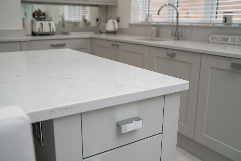 Marbonyx White Kitchen Worktop Essex